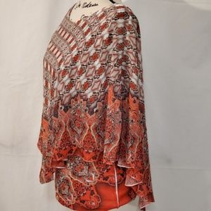 Energe Two Piece Tank Top w/ Poncho Size Small